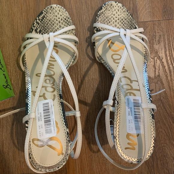 Sam Edelman Ivory Leather heels, brand new
